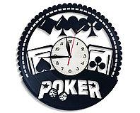 Настенные часы Покер poker, подарок фанатам, любителям, 2683