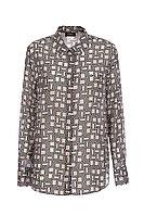 Блуза шелковая монограм 0L2031