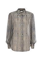 Блуза из нано-полиэстера и шёлка с набивным рисунком 0L2180