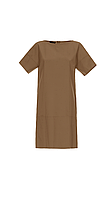 Платье кофейное из хлопка 0L5021