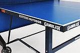 Теннисный стол Gambler EDITION Outdoor blue (США), фото 4