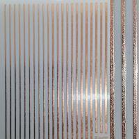 3D наклейка гибкая лента Полоски, розовое золото QF
