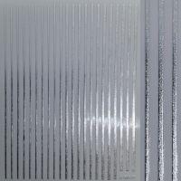 3D наклейка гибкая лента Полоски, серебро QF