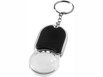 Брелок Zoomy с увеличительным стеклом и фонариком, черный