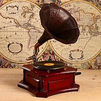 Граммофон труба металл 'Батиста' (пластинка в комплекте) 40х40х63,5 см