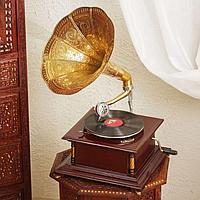 Граммофон 'Жёлтая ромашка' (пластинка в комплекте)