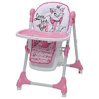 Стульчик для кормления Polini kids Disney baby 470 'Кошка Мари', цвет розовый