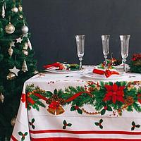 Набор столовый Этель 'Рождественский бал' скатерть 220*150 см, салфетки 40*40 см 12 шт, хлопок 100