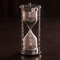 Песочные часы 'Маеджа' латунь, алюминий (5 мин) 8х8х17 см