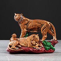 Статуэтка 'Семья тигров' бронза, 37 см