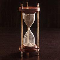 Песочные часы 'Мираж' дерево, латунь (5 мин) 9х9х21,5 см