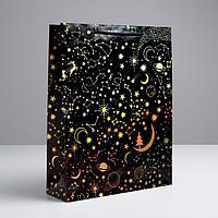 Пакет голографический вертикальный 'С Новым Годом!', L 31 x 40 x 11,5 см