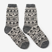 Носки мужские шерстяные 'Орнамент-зима', цвет лён, размер 27