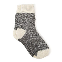 Носки для мальчика шерстяные Фактурная вязка цвет т-серый, размер 14