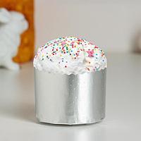 Форма бумажная для кекса, маффинов и кулича 'Серебряная' 60 х 45 мм (комплект из 20 шт.)
