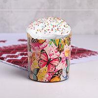 Форма бумажная для кекса, маффинов и кулича 'Бабочки цветные' 90x90 мм (комплект из 20 шт.)