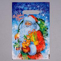 Пакет полиэтиленовый 'Новогодняя метель' с вырубной ручкой, 20 х 30 см , 30 мкм (комплект из 100 шт.)