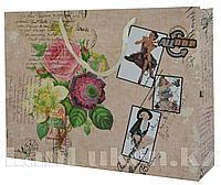 """Подарочный пакет """"Ретро стиль"""" (43,5* 32* 11,5 см)"""