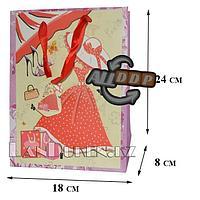 """Подарочный пакет в ассортименте """"Платье"""" (маленький для упаковки подарков для девушек)"""