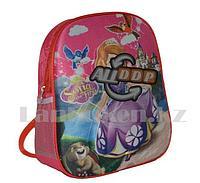 Детский рюкзак для детского сада 3D рисунок Принцесса София розовый