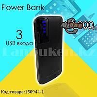 Портативное зарядное устройство 3 USB разъемами и индикатором Power Bank Padcoo K 18 20000 mAh черный