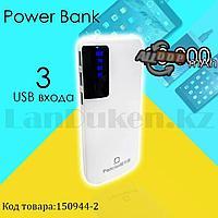 Портативное зарядное устройство 3 USB разъемами и индикатором Power Bank Padcoo K 18 20000 mAh белый
