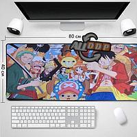 Коврик для для мышки клавиатуры и компьютеров One Piece 80х40 см