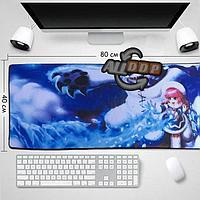 Коврик для для мышки клавиатуры и компьютеров Frostfire Annie 80х40 см