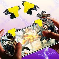 Триггеры контроллеры игровой курок универсальные карманные для смартфона с чехлом желтый