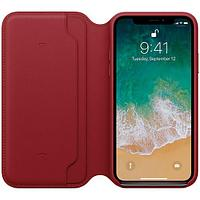 Оригинальный чехол Apple для IPhone X Leather Folio - (PRODUCT) RED MRQD2ZM/A