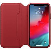 Оригинальный чехол Apple для IPhone XS Max Leather Folio - (PRODUCT)RED MRX32ZM/A
