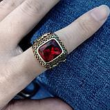 """Перстень-печатка """"Красный корунд"""", фото 5"""