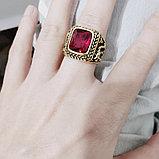"""Перстень-печатка """"Красный корунд"""", фото 2"""