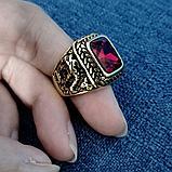 """Перстень-печатка """"Красный корунд"""", фото 6"""