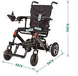 Инвалидная коляска электрическая GENTLE 120M, 24v 300w. Аккум. Li-ion 24v  10 A/H. Вес 21 кг, фото 2