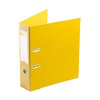 "Папка регистратор Deluxe с арочным механизмом, Office 3-YW5 (3"" YELLOW), А4, 70 мм, желтый"