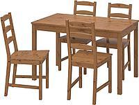 "Комплект IKEA ""Йокмокк"" стол + 4 стула коричневый"
