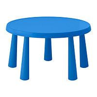 """Парта IKEA """"МАММУТ"""" синий"""
