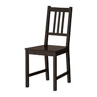 """Стул IKEA """"Стефан"""" коричнево чёрный"""