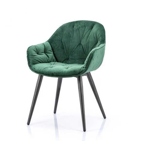 Скандинавские бархатные стулья