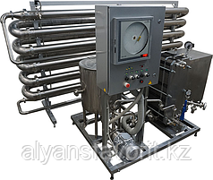 Комплект оборудования для пастеризации (проточный пастеризатор-охладитель молока) ИПКС-013-3000-300