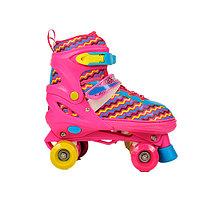 Ролики Inline Skates -4-x колесные, розовые