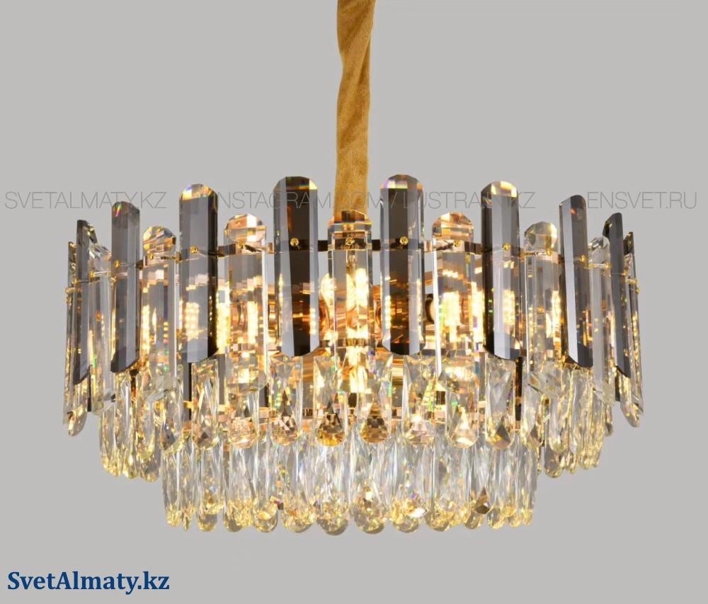 Люстра хрустальная на 12 ламп, цоколь E14