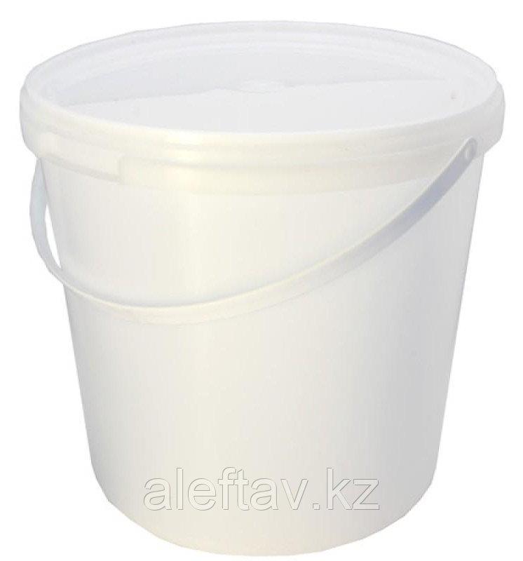 Ведро пластиковое белое объемом 2,3 литра,весом 100гр