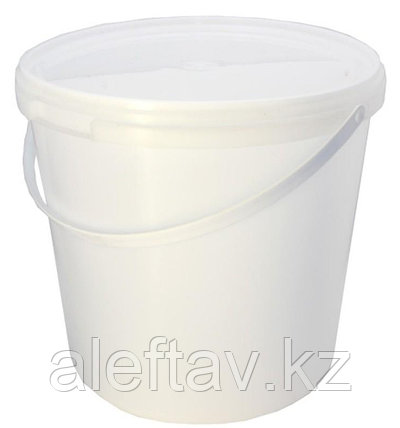 Ведро пластиковое белое объемом 2,3 литра,весом 100гр, фото 2