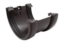 Соединитель желоба 120x80 мм FINEBER Коричневый