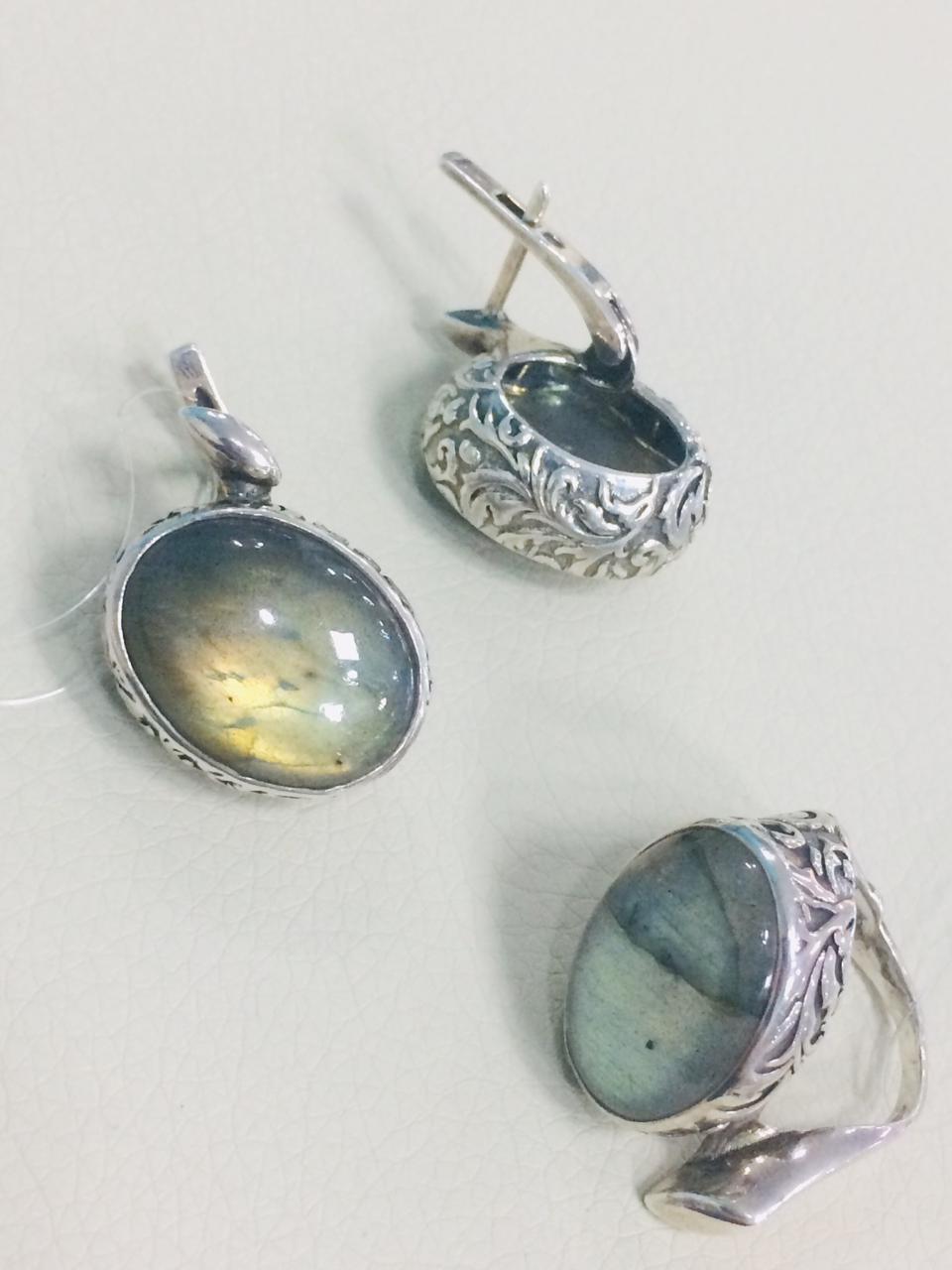 Комплект с лабрадором / серебро