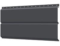 Металлосайдинг 240 мм RAL 7024 глянец Фасадная панель Europanel Цена 1095 тенге при заказе свыше 50 п.м