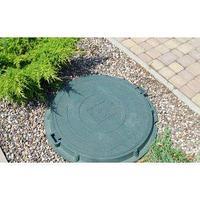 Люк канализационный, легкий, квадрат, зеленый, 670х670