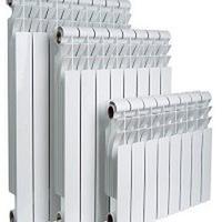 Радиатор алюминиевый высота ребра 350 мм, Количество секций 11, Глубина 80 мм